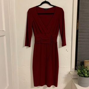 Laundry by Shelli Segal Deep Red Wrap Dress Size 6